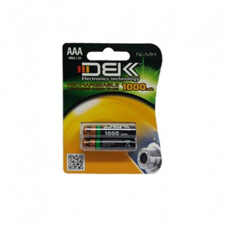 باطری نیم قلمی شارژی DBK 1000mAh AAA